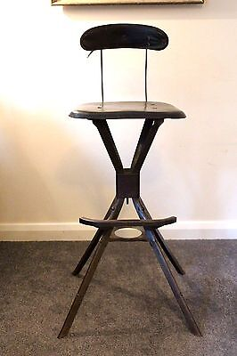 Vintage Industrial Possibly Evertaut Machinists Workshop Stool