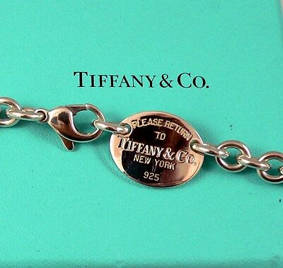 Tiffany & Co. Return to Tiffany Oval Tag Necklace, ->Free Priority Shipping <-!!