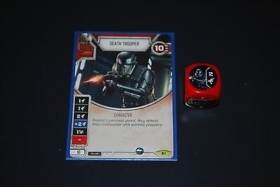 Star Wars Destiny Spirit of Rebellion Rare Death Trooper Card & Die