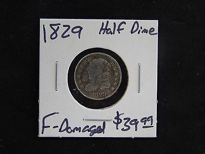 1829 Fine Capped Bust Half Dime Circulated - Damaged