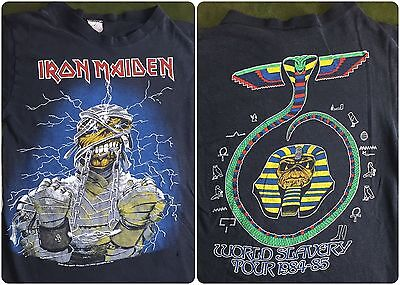 True Vintage 1984-85 Iron Maiden World Slavery Tour Graphic Long Sleeve T-Shirt