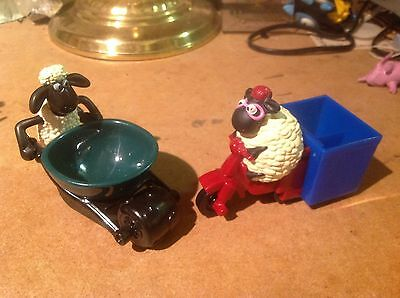 SHAUN THE SHEEP (WALLACE & GROMIT) ACTION TOYS/FIGURES - 2pcs