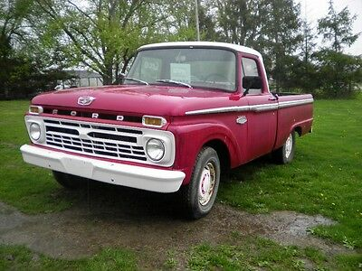 1966 Ford F-100  1966 F100 short bed fleet side