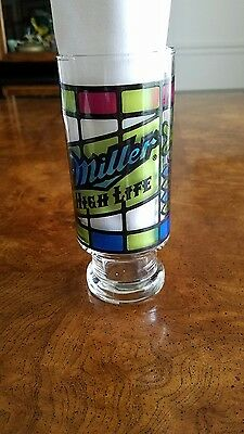 Vtg. Miller Light Drinking Glass