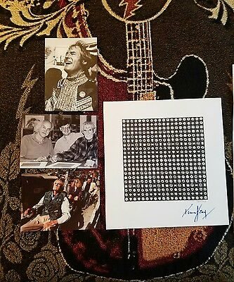Timothy Leary Signed Blotter Art - RARE - Includes photo of Leary Signing Art!!