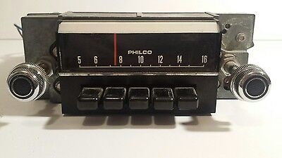 1968 Ford Mustang Radio AM Philco With Knobs