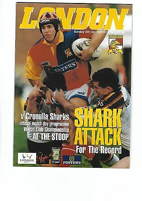 LONDON BRONCOS v CRONULLA SHARKS Australia World Club Championship 1997