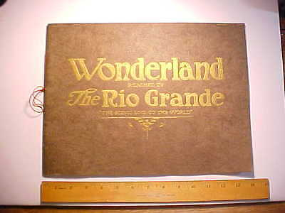 1922 Giant View Book Rio Grande Railroad Scenes Colorado & Utah By Photogs Vg+