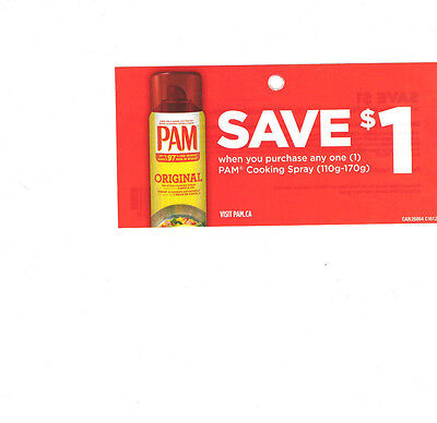 COUPONS - SAVE  12 x $1 on PAM Cooking Spray - Canada ONLY