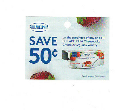 COUPONS - SAVE 13 x $0.50 on Philadelphia Cheesecake Creme  - Canada ONLY