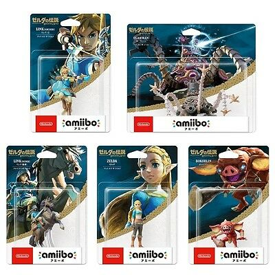 Legend-of-Zelda-Breath-of-The-Wild-Bundle-Amiibo-set of 5 new-Switch-Wii-BOTW