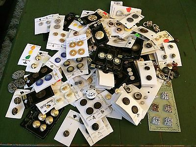 HUGE Lot of Vintage Buttons!!  Mostly Unique Decorative New On Cards