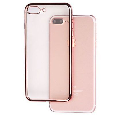 Electroplated TPU Cover Case for iPhone 7 Rose Gold