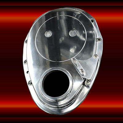 Polished Aluminum SB Chevy Timing Cover And Pointer For 6 to 7 Inch Balancer SBC