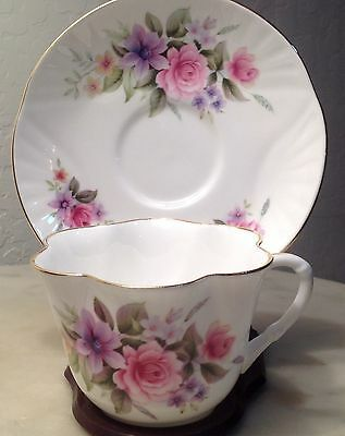 Crown Staffordshire tea cup and saucer vintage