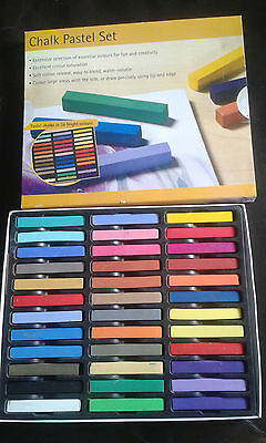 Pastel chalks in 36 bright colours