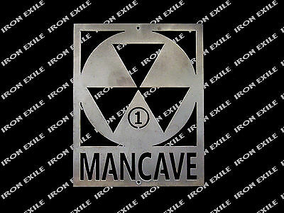 Mancave Fallout Shelter for 1 Metal Sign Funny Christmas Gift Idea Nuclear
