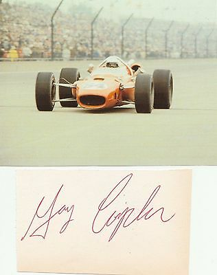 CART/IndyCar Gary Congdon Autograph w/photo