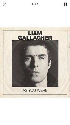 Liam Gallagher Vinyl As You Were 180gram White Vinyl Limited RARE SOLD OUT