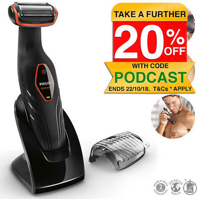 Philips BG2024 Men Body Hair Shaver/WaterProof Cordless Groomer Clipper Trimmer