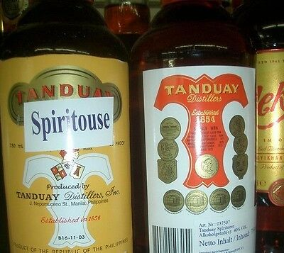 TANDUAY = ORIGINAL PHILIPPINISCHER RUM  750ml  40 % vol