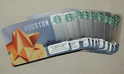 Starbucks HOUSTON City Gift Cards Lot of 25 NEW and MINT