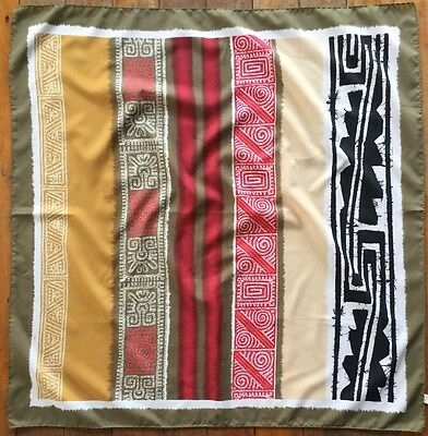 """Vintage Scarf Italian Made 100% Polyester. 31"""" By 31"""""""