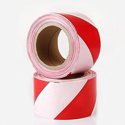 TopSoon Polyethene Warning Barrier Tape Non-adhesive 200m X 70mm Red And White