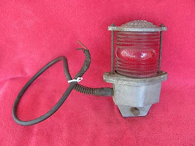 Vintage Transport Product Corp. Railroad Supply Red Globe Railroad Lantern Light