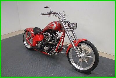Custom Built Motorcycles Chopper  2002 Custom Panzer 81 Big Red Machine Chopper, Harley, S&S, No Reserve!!!
