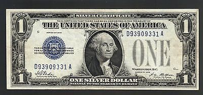 $1 1928 Blue Seal Funnyback SILVER CERTIFICATE First Year USA DOLLAR Paper Money