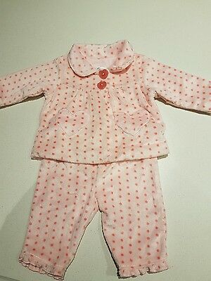 NEW no tags  BABY GIRL PAJAMAS SET size 3 to 6months pink Warm
