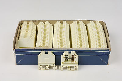 20x Telemecanique Schneider Terminal Block AB1VV435U Clamp White Made In Germany