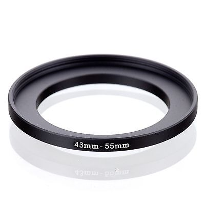 43mm-55mm 43mm to 55mm  43 - 55mm Step Up Ring Filter Adapter for Camera Lens
