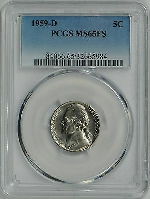 1959 D Jefferson Nickel MS65 FULL STEPS PCGS