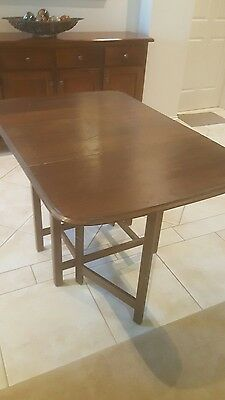 Antique collectable dropside drop side table