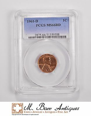 MS66RD 1961-D Lincoln Memorial Cent - Graded PCGS *5574