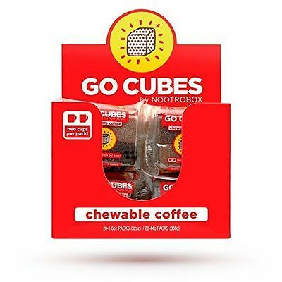 GO CUBES Chewable Coffee Assorted Flavors 4 count chews (20 Pack)