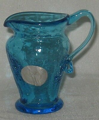 Kanawha Small Blue Crackle Pitcher Vase