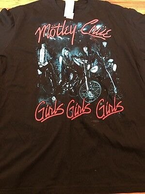 NWT Men's Size Medium Motley Crue Girls Girls Girls Shirt