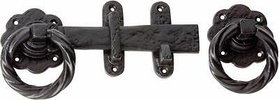 black cast iron gate or barn door latch,gothic twisted ring TH1868