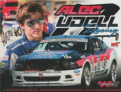 2013 Alec Udell signed Ford Mustang Boss 302 GTS SCCA PWC postcard