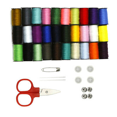 30 Spools Assorted Color Polyester Sewing Thread Set Sewing Accessories Kit