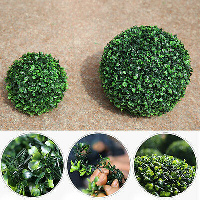 Chic Artifical Plastic Green Grass Ball Plant Hanging Garland Home Decor 12-30cm