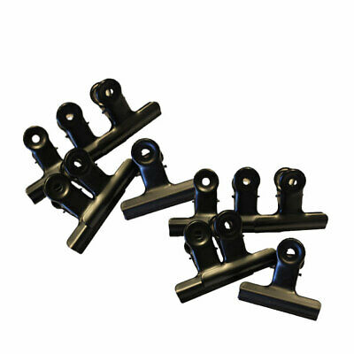 Black Bull Dog Clips 75Mm Pack Of 12