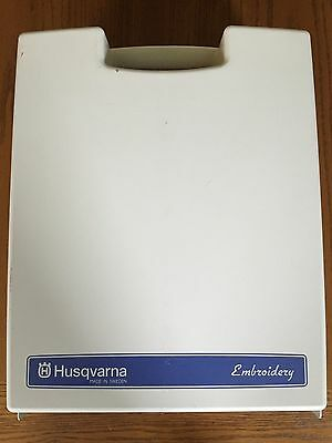 HUSQVARNA Viking #1+ Sewing Machine Embroidery Arm Unit and Case Hoops