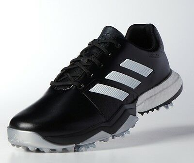 NEW Adidas AdiPower Boost 3 Golf Shoes Black/White/Silver 12.5 M