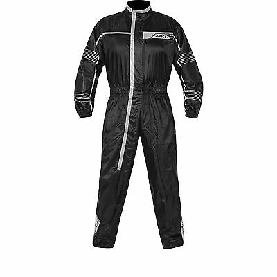 Motorcycle One Piece Rain Suit - Akito Cyclone Size 2XL