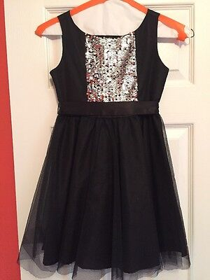 Little Girls Pageant / Party Dress black With Sequin Size 7