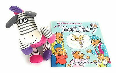 Gift Set Maison Chic Zella the Zebra Tooth Fairy Pillow and the Berenstain Bears